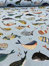 Whale Watching Pacific Cotton Fabric by Prestigious Textiles