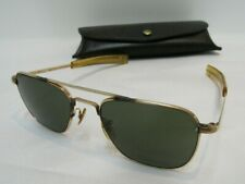 Vintage American Optical Ao Aviator Pilot Sunglasses 1/10 12K Gf 5 1/2 + Case Ni