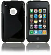 Flexible TPU S-Shape Gel Case for iPhone 3G / 3GS - Clear