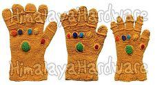 Infinity Gauntlet Gloves: knit crochet wool Thanos Marvel gems cosplay costume