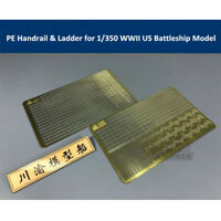 Photo-Etched PE Handrail & Ladder for 1/350 Scale WWII US Battleship Model