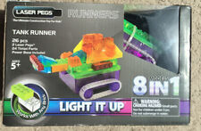 Laser Pegs Runners Tank 26pc 8 Models In 1 Light Up Bricks Build Construction
