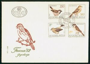 Mayfairstamps Yugoslavia FDC 1982 Birds Combo First Day Cover wwp_50875