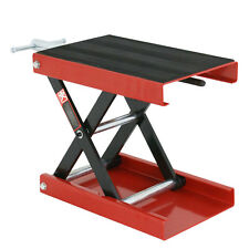 "1100LB 9"" Wide Deck Motorcycle Center Scissor Lift Jack Hoist Stand Bikes ATV"