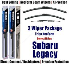 3-Pack Wipers Front & Rear NeoForm fit 1995-1999 Subaru Legacy 16210/190/30150