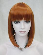 Excellent BOB Orange - Brown Short Straight Women Ladies Daily wig FTLD089