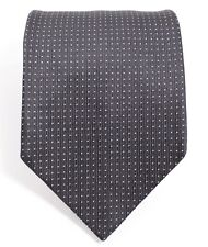 Authentic Burberry Tie - Pure Silk Navy Blue Polka Dots - Made in England