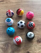 VW Eyeball Valve Caps X4 Set Golf Hotrod 8ball Polo Golf VAG Audi Emoji Football