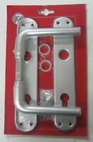 Maniglia x porta placca foro yale realizzato in alluminio colore argento 804 new