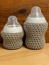 CROCHET BABY BOTTLE COVER HANDMADE Tommee Tippe 9oz and 5oz PERSONALIZED Option
