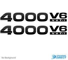 Toyota Prado 4 Litre V6 vvt-i Sticker Set Of 2 Outdoor Grade Decals 240mm