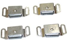 LOT OF 4 MAGNETIC ANODIZED ALUMINUM CABINET LATCHES