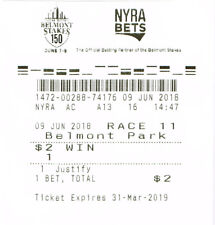 2018 BELMONT $2.00 WIN TICKET JUSTIFY TRIPLE CROWN WINNER HORSE
