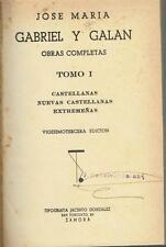 Obras completas. José María Gabriel y Galán.