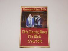 Macklemore & Ryan Lewis This Unruly Mess I've Made 17x11 Album Promo Poster New
