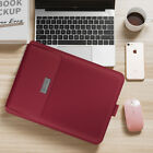 Ultra-thin waterproof folding pu macbook bag,red 13/14 inch universal