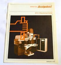 Bridgeport C-120A Btc Ii Machine Brochure