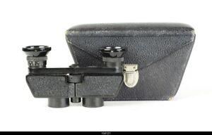Carl Zeiss Jena Theatis  3 x 13.5 Q  Binocular Black With Casse
