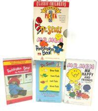 Mr Men Mr Happy Dr Seuss Paddington Bear 3 Pack Classic Stories VHS Tape Vintage