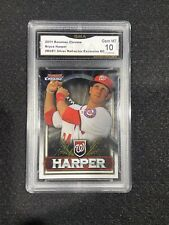 Bryce Harper 2011 Bowman chrome: Silver Refractor/ ROOKIE Card GMA Graded 10