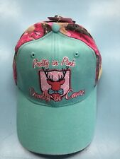 Pretty In Pink Deadly In Camo Hat Ladies Baseball Cap 8c35ee228c12