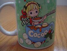 New Precious Moments Green Christmas Cocoa Hot Chocolate Ceramic Mug Cup