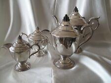 ANTIQUE  SIR JOHN BENNETT 4 PIECE SILVER PLATE TEA AND COFFEE SET