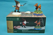 Dept 56 56931 Rudolph Red Nosed Reindeer Ring Toss North Pole Woods Christmas