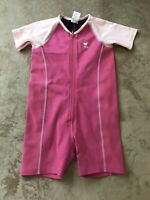 TYR Kids Youth Pink Neoprene Wet Suit UV 50 Bodysuit Size 7/8