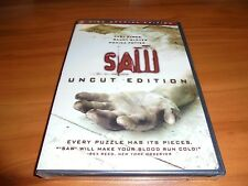 Saw (DVD, 2005, Widescreen Uncut Edition) Monica Potter, Cary Elwes NEW