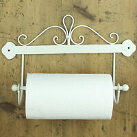 Scroll Kitchen Roll Holder cream shabby wall mounted chic vintage gift home