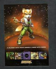 Y257 Chrome Postcard 4x6 Starfox Adventures Fox McCloud Nintendo