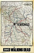 AMC FILMS THE WALKING DEAD TERMINUS MAP POSTER PRINT NEW 22x34 FREE SHIPPING