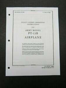 1940-45 AAF Boeing PT-13B Stearman Pilot's Aircraft Flight Operating Manual