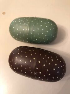 Dinosaur Egg Toys - Lot of 2 Green and Brown