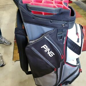 PING Pioneer Cart Golf Bag Silver Scarlet  15 WAY PADDED Lightweight 2020.