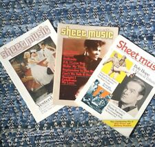 Lot of Sheet Music Magazine '85 '86 '87 3 Issues Dionne Warwick Bob Hope C King