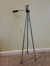 VINTAGE MID CENTURY 5' ALBERT SPECIALTY CAMERA TRIPOD BAKELITE HANDLE STEEL LEGS