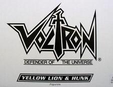 SALE 15% OFF VOLTRON YELLOW LION & HUNK MATTEL VOLTRON G-15976 0746775167844