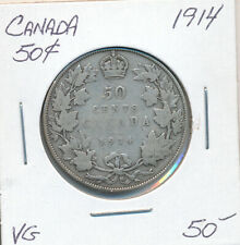 CANADA 50 CENTS 1914 - VG