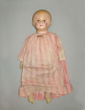 """Antique Vtg Ca 1900s Martha Chase Rag Cloth Doll Painted Face 21"""" Applied Ears"""