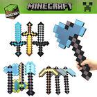 MineCraft Pixel Classic Diamond Sword Pickaxe Axe Shovel Model Soft EVA Foam Toy