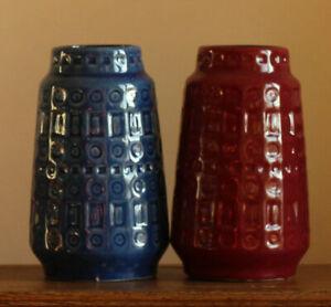"""Keramik Vase Scheurich """" INKA """"  60er 70er  Nr. 260-18, cm hoch"""