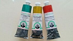 3 Old Holland Oil Paints  ~ RETAIL$117 ~ C Series (40ml Tubes) LOT *****  🎨