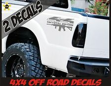 4x4 Truck Decal Set METALLIC SILVER Ford F150 Super Duty F250 Tactical AR15 M4