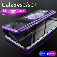 Magnetic Adsorption Metal Case Tempered Glass Cover For Samsung Galaxy S9 S9+