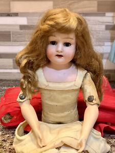 "Antique 1915-26 Morimura Brothers Of Japan ""Dolly"" Model Doll~ Sleep Eyes"