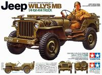 Tamiya 35219 1/35 Scale Military Model Kit US Army Jeep Willys MB 1/4 Ton Truck