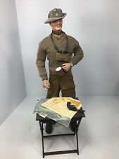 1/6 DID GEN MONTGOMERY DESERT RATS SLOUCH HAT TABLE & MAPS TEA WW2 DRAGON BBI