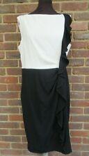 Coast Ladies Mono Black and White Sairah Dress Size UK 16 BNWT